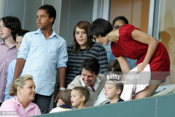 Katie Holmes and Tom Cruise with daughters Suri Cruise Isabella KidmanCruise and son Connor KidmanCruise with David Beckham's sons Brooklyn Romeo and...