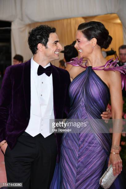 Katie Holmes and Zac Posen attend The 2019 Met Gala Celebrating Camp: Notes on Fashion at Metropolitan Museum of Art on May 06, 2019 in New York City.