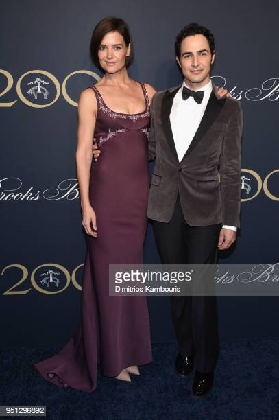 Katie Holmes and Zac Posen attend the Brooks Brothers Bicentennial Celebration At Jazz At Lincoln Center New York City on April 25 2018 in New York...