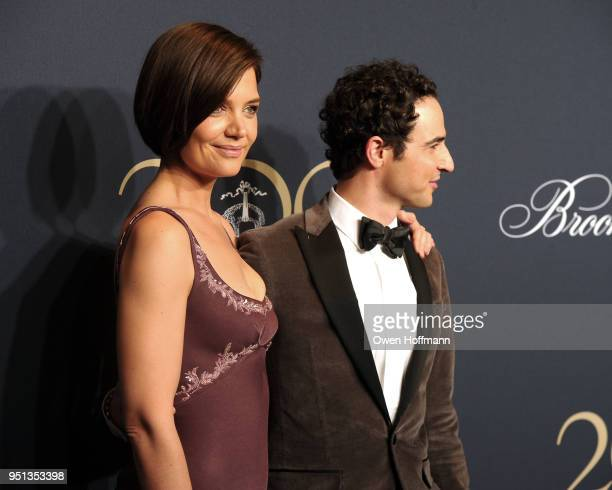 Katie Holmes and Zac Posen attends Brooks Brothers Bicentennial Celebration on April 25 2018 in New York City