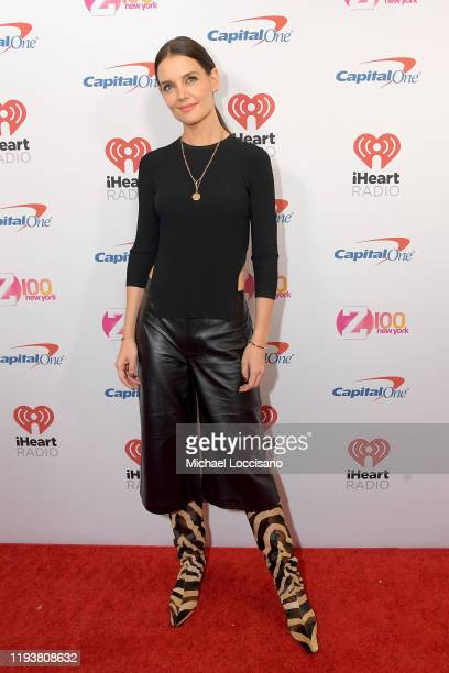 Katie Holmes arrives at iHeartRadio's Z100 Jingle Ball 2019 at Madison Square Garden on December 13, 2019 in New York City.