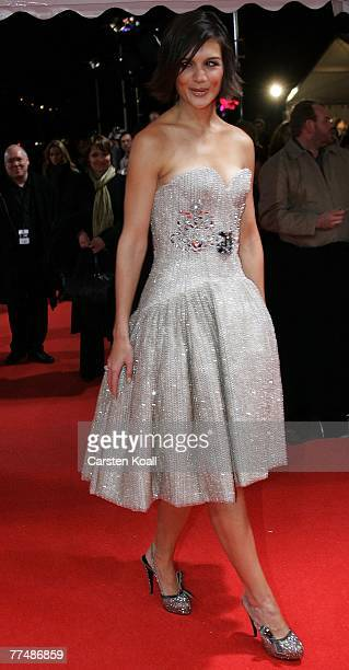 Katie Holmes arrives at the German premiere of ''Lions for Lambs'' at the Kino International on October 24 2007 in Berlin Germany