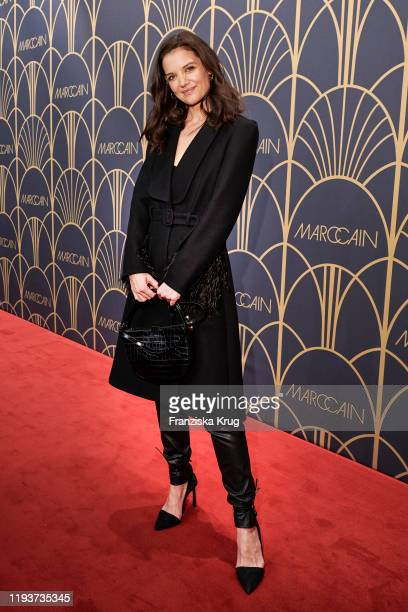 Katie Holmes arrives at the Marc Cain show during Berlin Fashion Week Autumn/Winter 2020 at Deutsche Telekom's representative office on January 14...