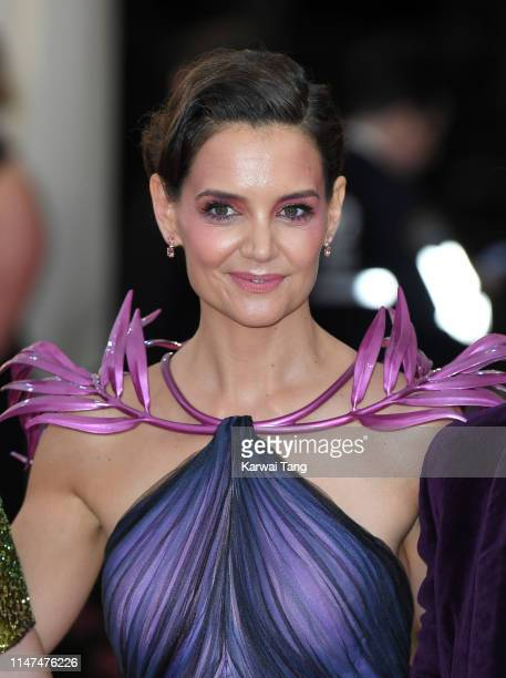 Katie Holmes arrives for the 2019 Met Gala celebrating Camp Notes on Fashion at The Metropolitan Museum of Art on May 06 2019 in New York City