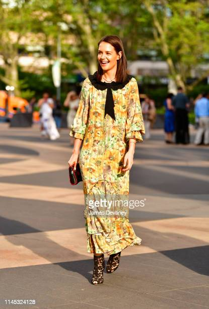 Katie Holmes arrives to the American Ballet Theatre 2019 Spring Gala at The Metropolitan Opera House on May 20 2019 in New York City