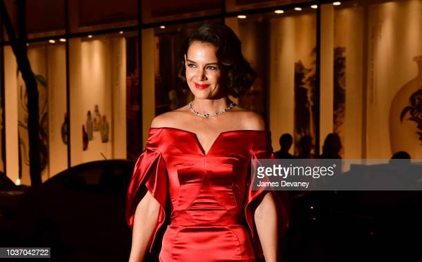Katie Holmes arrives to the Rainbow Room on September 20 2018 in New York City