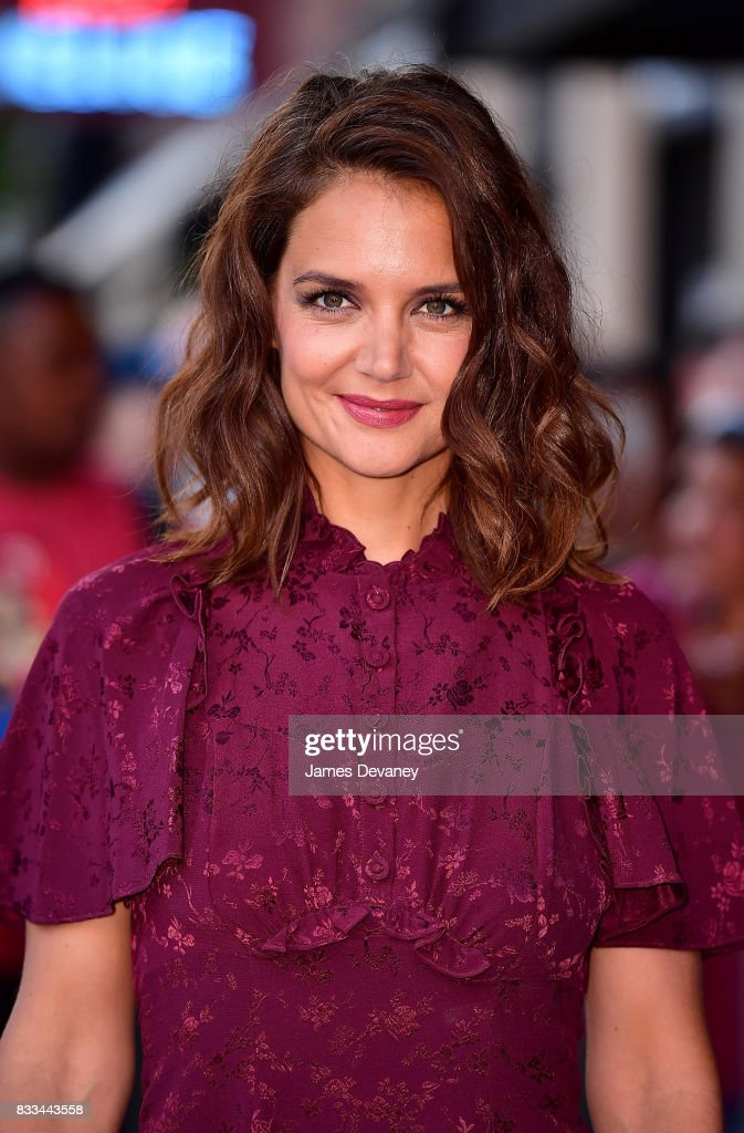 Katie Holmes arrives to 'The Tick' Blue Carpet Premiere at Village East Cinema on August 16, 2017 in New York City.