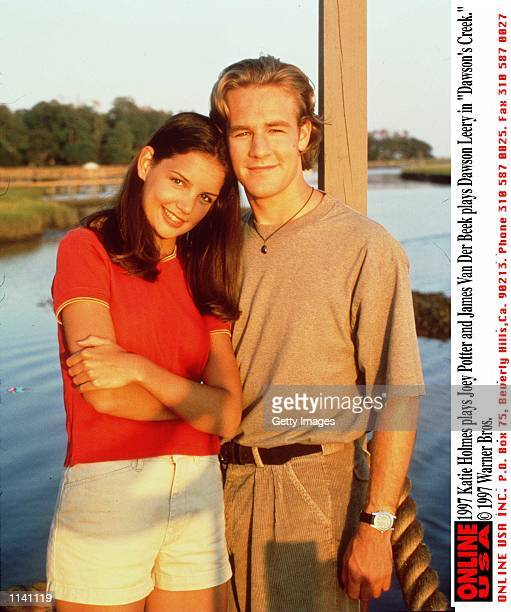 Katie Holmes as Joey Potter and James Van Der Beek as Dawson Leery in 'Dawson's Creek'