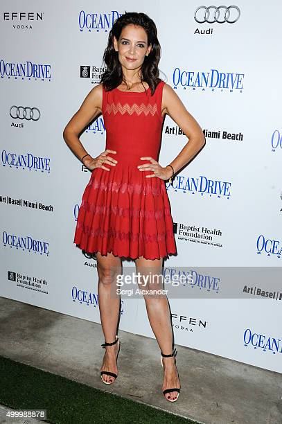 Katie Holmes attends 'Art of the Party with Katie Holmes' hosted by Ocean Drive Magazine on December 4 2015 in Miami Beach Florida