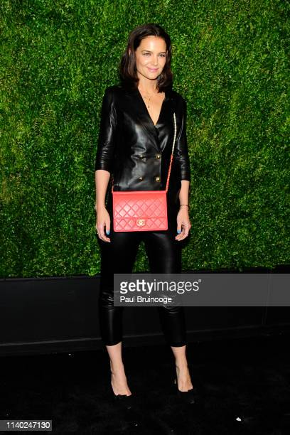 Katie Holmes attends Chanel Hosts The 2019 Tribeca Film Festival Artist's Dinner at Balthazar NYC on April 29 2019 in New York City