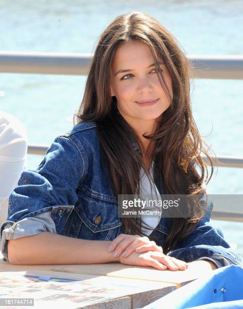 Katie Holmes attends Hellmann's 100th Birthday Event at Pier 84 on September 24 2013 in New York City