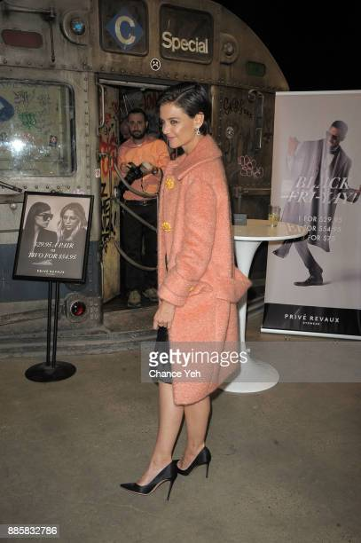 Katie Holmes attends Prive Revaux Eyewear New York flagship launch at Prive Revaux on December 4 2017 in New York City