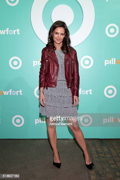 Katie Holmes attends Target Pillowfort launch party at Highline Stages on March 3 2016 in New York City
