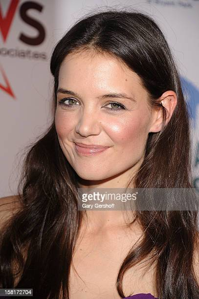 Katie Holmes attends the 2012 Broadway Dreams Foundation 'Champagne And Caroling' Gala at Celsius on December 10, 2012 in New York City.