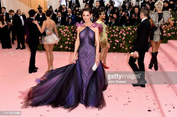 Katie Holmes attends The 2019 Met Gala Celebrating Camp Notes on Fashion at Metropolitan Museum of Art on May 06 2019 in New York City
