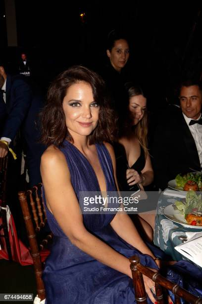 Katie Holmes attends the 7th Annual amfAR Inspiration Gala on April 27 2017 in Sao Paulo Brazil