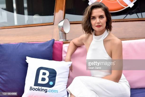 Katie Holmes attends the alice olivia SS19 Presentation Powered By Bookingcom at Pier 59 Studios on September 11 2018 in New York City