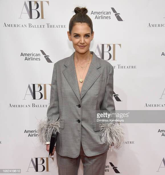 Katie Holmes attends The American Ballet Theatre 2018 Fall Gala at David H Koch Theater Lincoln Center on October 17 2018 in New York City