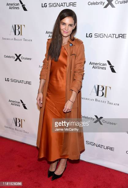 Katie Holmes attends the American Ballet Theatre 2019 Fall Gala at David H. Koch Theater at Lincoln Center on October 16, 2019 in New York City.