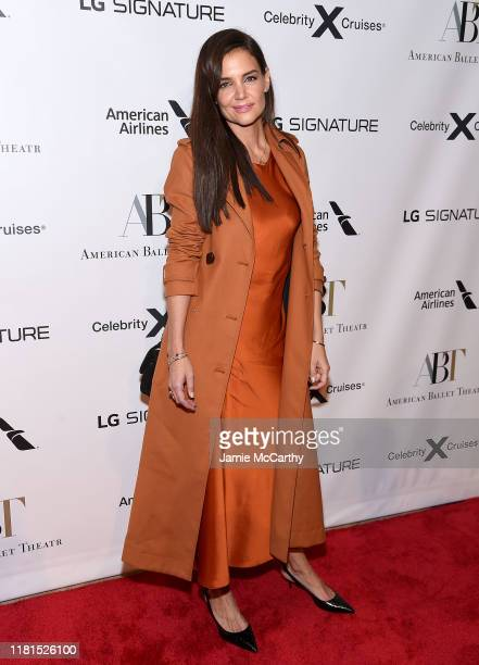 Katie Holmes attends the American Ballet Theatre 2019 Fall Gala at David H Koch Theater at Lincoln Center on October 16 2019 in New York City