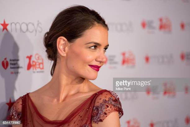 Katie Holmes attends the American Heart Association's Go Red for Women Red Dress Collection 2017 during New York Fashion Week at Hammerstein Ballroom...