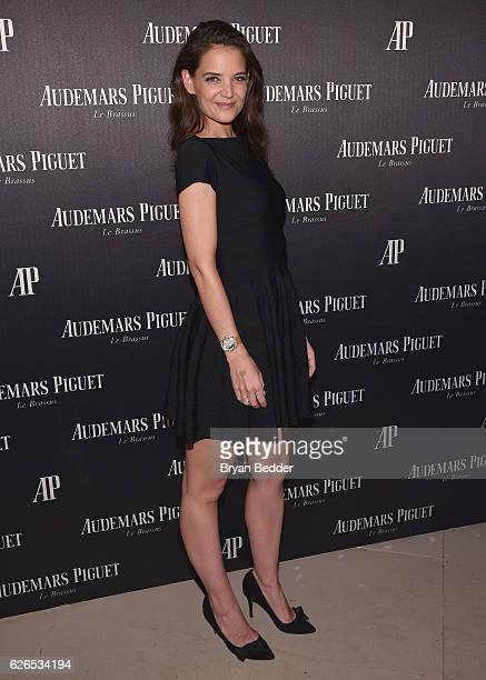Katie Holmes attends the Audemars Piguet Art Commission Presents Reconstruction of the Universe By Sun Xun on November 29 2016 in Miami Beach Florida