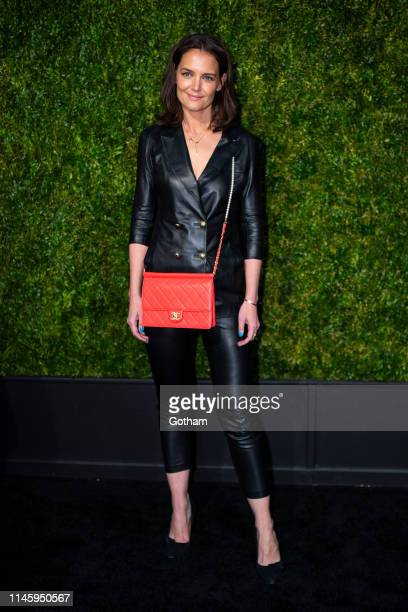 Katie Holmes attends the Chanel 14th Annual Tribeca Film Festival Artists Dinner at Balthazar on April 29 2019 in New York City