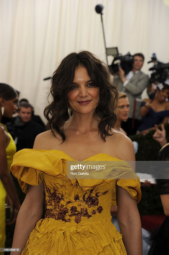 Katie Holmes attends the 'Charles James: Beyond Fashion' Costume Institute Gala at the Metropolitan Museum of Art on May 5, 2014 in New York City.