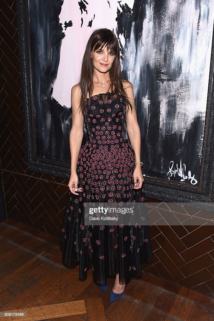Katie Holmes attends The Cinema Society & Ruffino Host A screening Of 'All We Had'- After Party at Jimmy At The James Hotel on December 6, 2016 in New York City.