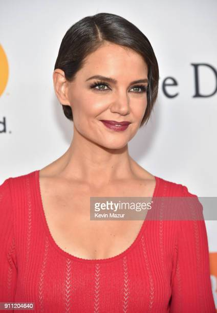 Katie Holmes attends the Clive Davis and Recording Academy PreGRAMMY Gala and GRAMMY Salute to Industry Icons Honoring JayZ on January 27 2018 in New...