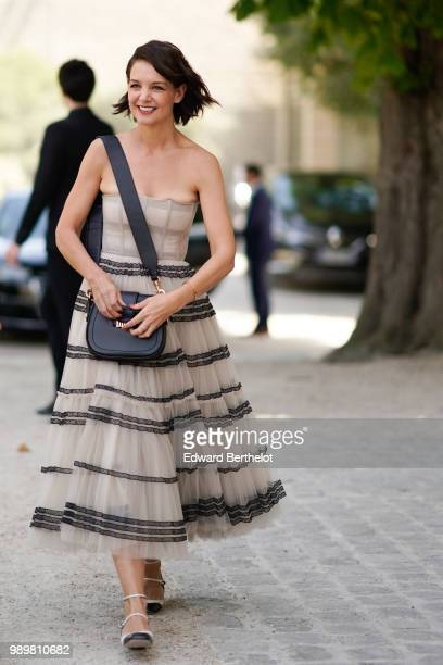 Katie Holmes attends the Dior show during Paris Fashion Week Haute Couture Fall Winter 2018/2019 on July 2 2018 in Paris France