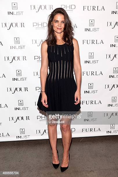Katie Holmes attends the Dujour Magazine Fall Issue Celebration featuring Katie Holmes at Penthouse at Dream Downtown on September 16 2014 in New...
