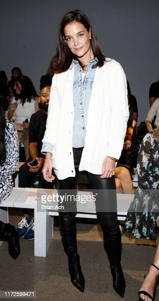 Katie Holmes attends the Ellie Tahari front row during New York Fashion Week The Showsat Gallery II at Spring Studios on September 05 2019 in New...