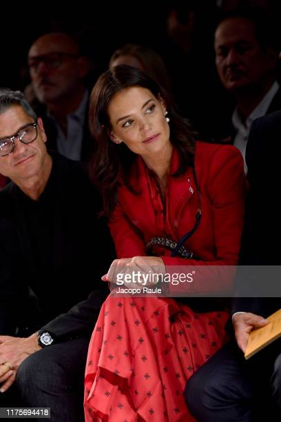 Katie Holmes attends the Fendi fashion show during the Milan Fashion Week Spring/Summer 2020 on September 19 2019 in Milan Italy