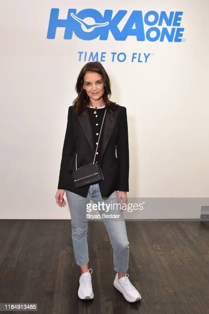 Katie Holmes attends the Hoka One One Pop Up Women Who Fly Panel on November 01 2019 in New York City