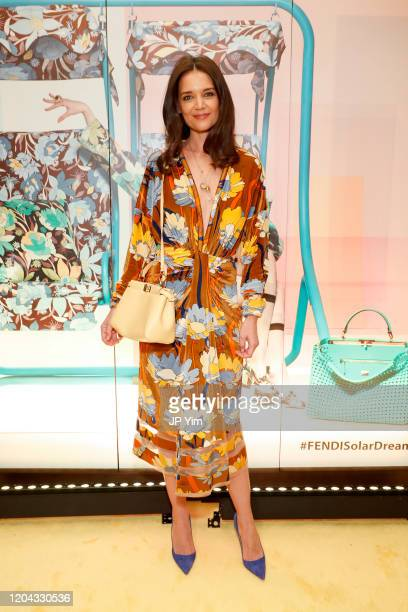 Katie Holmes attends The Launch of Solar Dream hosted by Fendi on February 05 2020 in New York City