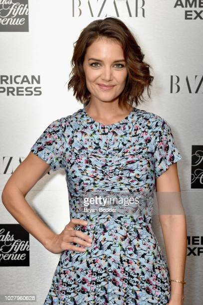 Katie Holmes attends the launch of the Saks IT List Townhouse hosted by Glenda Bailey and Katie Holmes in partnership with American Express and...