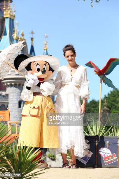 Katie Holmes attends the Lion King Festival At Disneyland Paris on June 29, 2019 in Paris, France.
