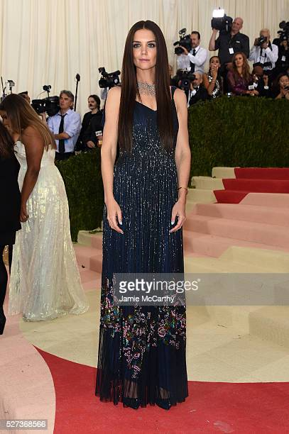 """Katie Holmes attends the """"Manus x Machina: Fashion In An Age Of Technology"""" Costume Institute Gala at Metropolitan Museum of Art on May 2, 2016 in..."""