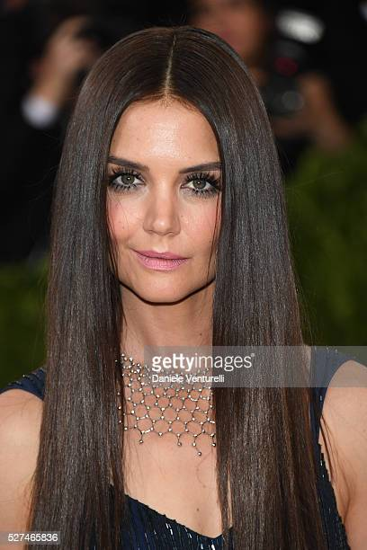 Katie Holmes attends the 'Manus x Machina: Fashion In An Age Of Technology' Costume Institute Gala at the Metropolitan Museum on May 02, 2016 in New...