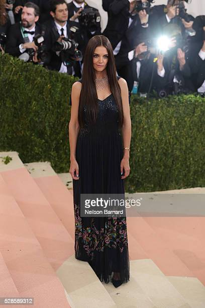 Katie Holmes attends the 'Manus x Machina Fashion In An Age Of Technology' Costume Institute Gala at Metropolitan Museum of Art on May 2 2016 in New...