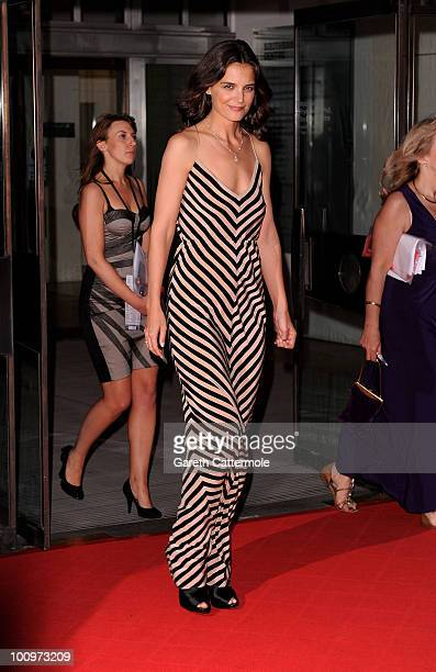 Katie Holmes attends the National Movie Awards 2010 at the Royal Festival Hall on May 26 2010 in London England