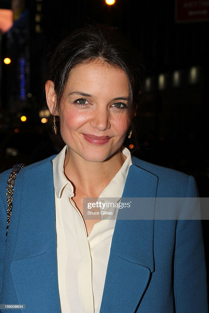 Katie Holmes attends 'The Other Place' Broadway opening night at Samuel J. Friedman Theatre on January 10, 2013 in New York City.