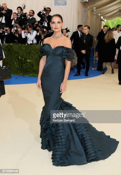"""Katie Holmes attends the """"Rei Kawakubo/Comme des Garcons: Art Of The In-Between"""" Costume Institute Gala at Metropolitan Museum of Art on May 1, 2017..."""