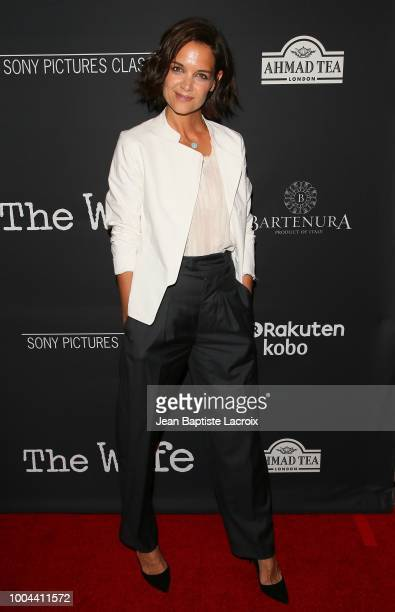 Katie Holmes attends the Sony Pictures Classics' Los Angeles premiere of 'The Wife' held at Pacific Design Center on July 23 2018 in West Hollywood...