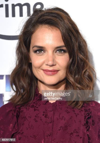 Katie Holmes attends The Tick Blue Carpet Premiere at Village East Cinema on August 16 2017 in New York City