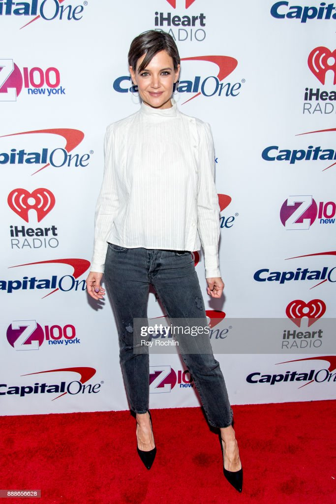 Katie Holmes attends Z100's iHeartRadio Jingle Ball 2017 at Madison Square Garden on December 8, 2017 in New York City.