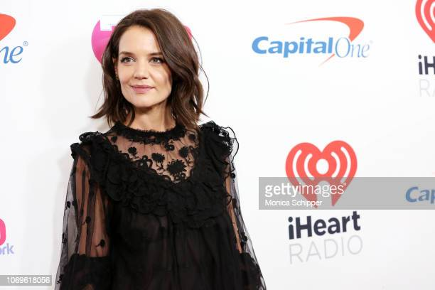 Katie Holmes attends Z100's Jingle Ball 2018 at Madison Square Garden on December 7 2018 in New York City