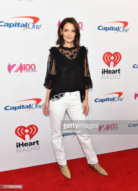 Katie Holmes attends Z100's Jingle Ball 2018 at Madison Square Garden on December 07 2018 in New York City
