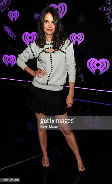 Katie Holmes backstage at Z100's Jingle Ball 2013 presented by Aeropostale at Madison Square Garden on December 13 2013 in New York City